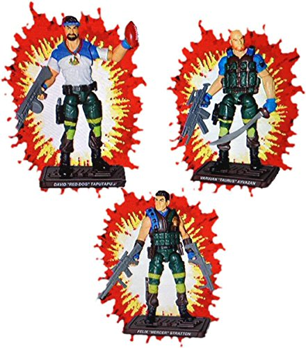 (JoeCon 2018 GI Joe Convention Exclusive 2018 Slaughters Marauders Renegades 3 Pack 3 3/4 Inch Action Figures)
