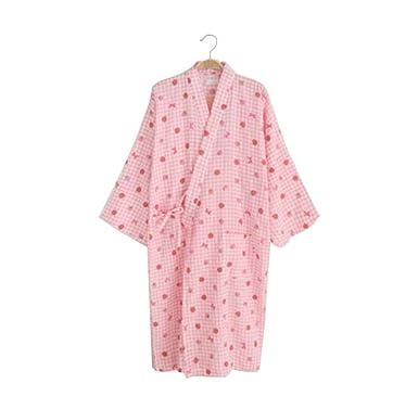 Damen leichte Baumwolle Morgenmantel / Bademantel - Kimono Robe 100 ...
