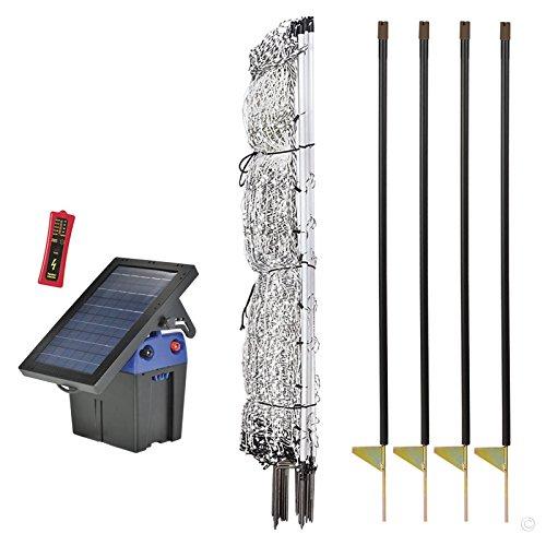 "Premier 42"" PoultryNet Plus Starter Kit - Includes PoultryNet Plus Net Fence - 42"" H x 100' L, Solar Fence Energizer, FiberTuff Support Posts & Fence Tester"