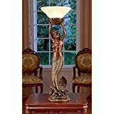 Cheap Design Toscano The Goddess Offering Mermaid Sculptural Table Lamp