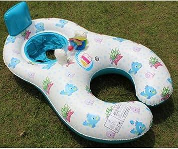 Marca Newbaby asiento flotador Anillo Anillos de recién nacido de natación entrenador madre y niño natación círculo Juego Inflable Flamingo bebé piscina ...