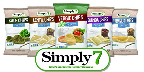 Lentil Chips (Simply7 Gluten Free Single Serve Chips Variety Pack, 24 Count)