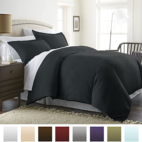 Beckham Hotel Collection Luxury Soft Brushed 1800 Series Microfiber Duvet Cover Set - Hypoallergenic - Full/Queen,