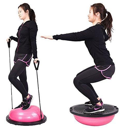 ET-Zeichen Geschäften Balance Balance Geschäften Trainer Half Ball Yoga Fitness Workout a74db3