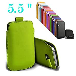 uFashion3C iPhone 6 Plus Slim Soft PU Leather Sleeve Pouch Case Cover Bag with Pull Tab - for Naked iPhone 6 5.5 inch - 13 Colors (Green)
