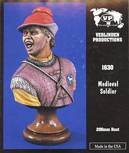 (Verlinden Productions 200mm Medieval Soldier - Figure Bust Kit #1630)
