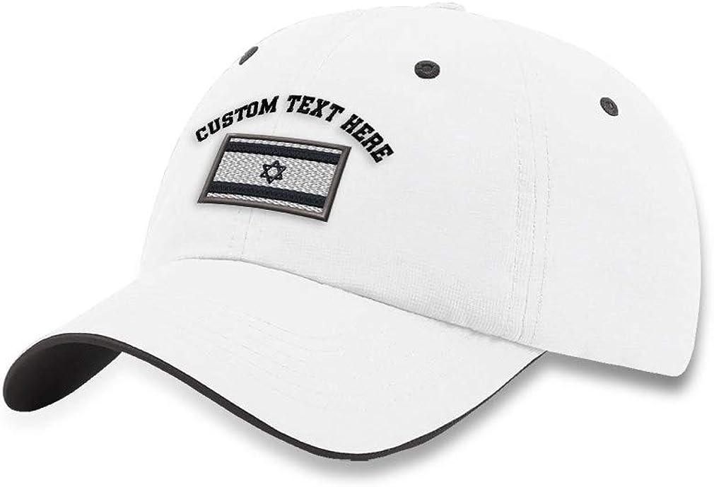 Speedy Pros Custom Richardson Soft Running Hat Israel Black White Flag Embroidery Polyester