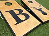 Big Letter and Deer Head Custom Cornhole Board Set
