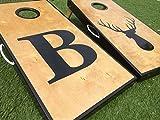 Big Letter and Deer Head Custom Cornhole Board Set