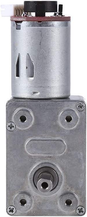 Motor Reductor de Reducción - Motorreductor de 12 V CC, Motor de Reducción de alto par con Encoder Srong Autoblocante (100 RPM)