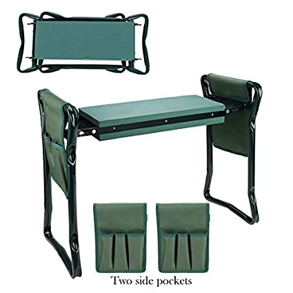 Sensational Garden Foldable Kneeler Bench Seat With 2 Tool Pouches And Eva Kneeling Pad Handles Forskolin Free Trial Chair Design Images Forskolin Free Trialorg