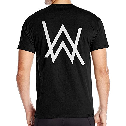 ATOPSHOP Alan Walker Logo Cotton Summer Short Sleeve T-Shirt Tee Round Neck Top Blouse Back Print for Men Boys by ATOPSHOP (Image #2)