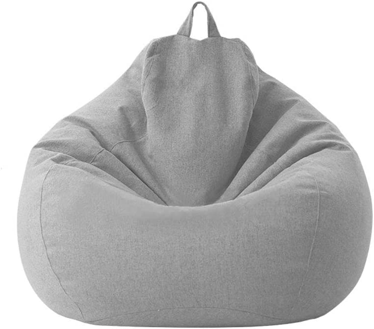 Classic Waterproof Bean Bag Chair Cover Unfilled Home Lounger Lazy Large Storage Sofa Washable Oxford Slipcover (27.56 in31.50 in, Light Grey)