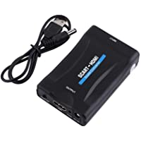 Scart to HDMI Converter, Jsdoin Scart Adapter Support HDMI 720/1080P for Smartphone to HDTV STB PS3 Sky DVD Blu-ray