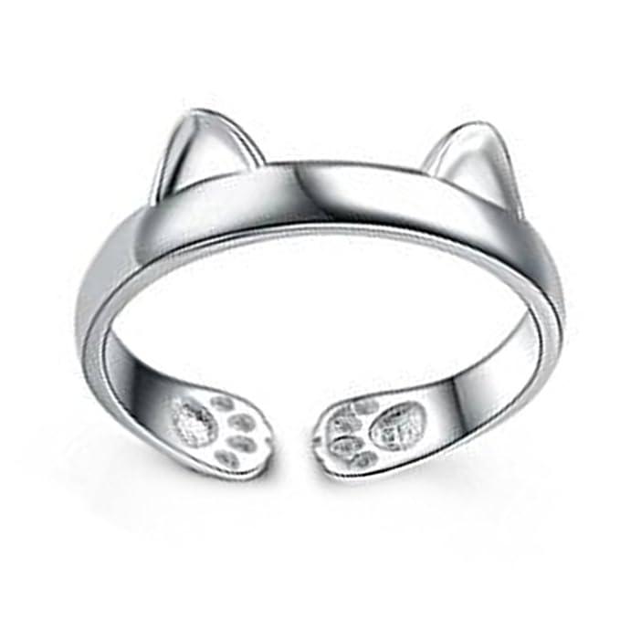 Hosaire Ringe Kreativ Katze Form Offener Rings Schmuck Zubeh/ör f/ür Geburtstags Geschenk,Einstellbare Gr/ö/ße