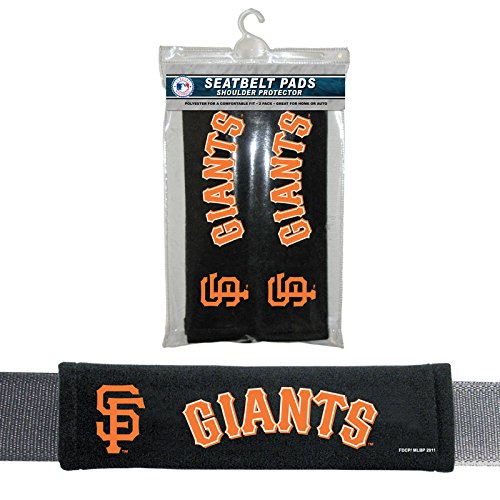 MLB San Francisco Giants Seat Belt Pad (Pack of 2), One Size, White Mlb Seat Cushion