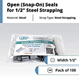 """IDL Packaging Open (Snap-On) Seals for 1/2"""" Strap"""