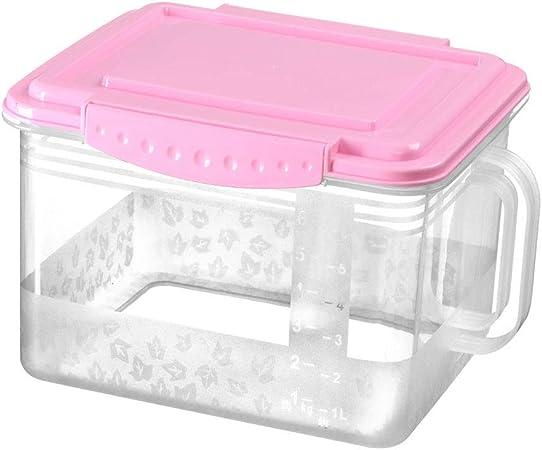 ERMEI Caja de Almacenamiento con Tapa - Caja de Almacenamiento de plástico de Grano multifunción para Cocina (2 por Paquete) 28 × 20.2 × 18.8cm: Amazon.es: Hogar