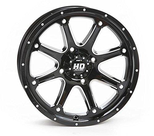 Bundle - 9 Items: STI HD4 14'' Wheels Black 28'' Kanati Mongrel Tires [4x137 Bolt Pattern 12mmx1.25 Lug Kit] by Powersports Bundle (Image #1)