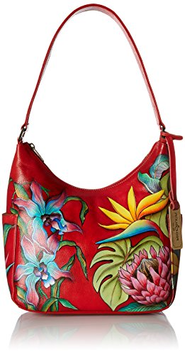 Anuschka Women's Hobo Handbag | Genuine Leather | Island Escape ()