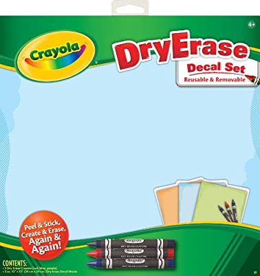 Crayola Dry Erase Decals Plain