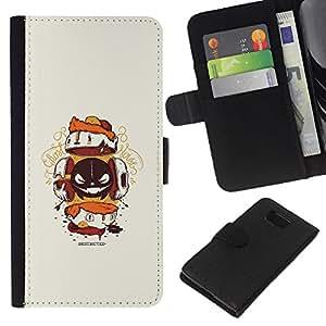 KLONGSHOP // Tirón de la caja Cartera de cuero con ranuras para tarjetas - Resumen de la criatura - Samsung ALPHA G850 //