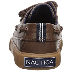 Nautica Boys' River PU Toddler Boat Shoe, Burnished Brown, 12 Medium US Little Kid