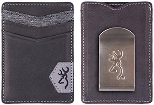 Browning Leather Front Pocket Wallet, Black