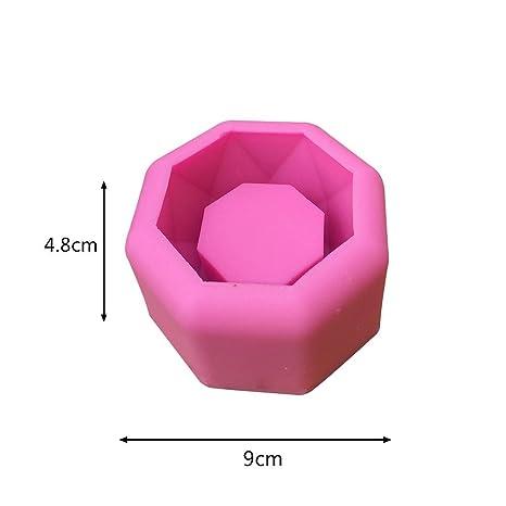 Molde de silicona con forma geométrica para macetas, para decorar el hogar o la oficina
