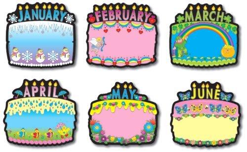 amazon com carson dellosa birthday cakes bulletin board set 1726