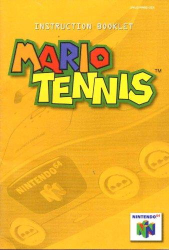 Mario Tennis N64 Instruction Booklet (Nintendo 64 Manual Only) (Nintendo 64 (Nintendo 64 Game Manuals)
