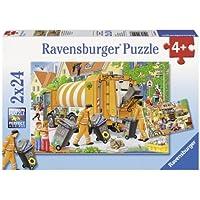 Ravensburger Trash Removal Puzzle 2x24pc,Children's Puzzles