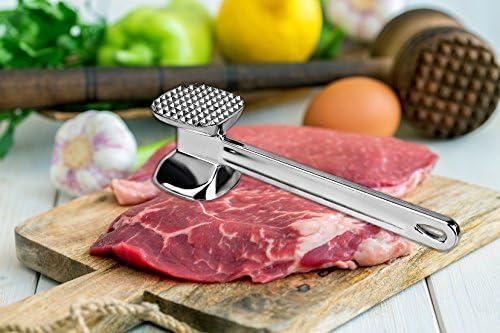 Aluminium Large Heavy 2 Sides Meat Tenderizer Hammer Steak Beef Chicken Pork