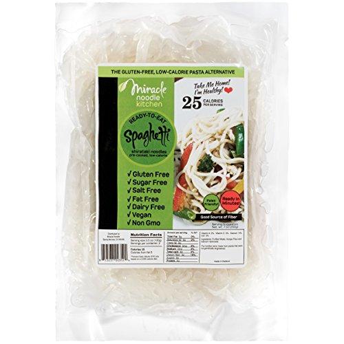 Miracle Noodle Organic Shirataki Spaghetti, Gluten-Free, Zero Carb, Keto, Vegan, Soy Free, Paleo, Blood Sugar Friendly, 7oz (Pack of 6) 2