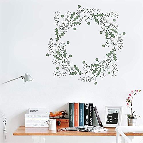 - Jetmina Wall Decal Wall Sticker Art Mural Home Decor Mistletoe Ring for Living Room Bedroom