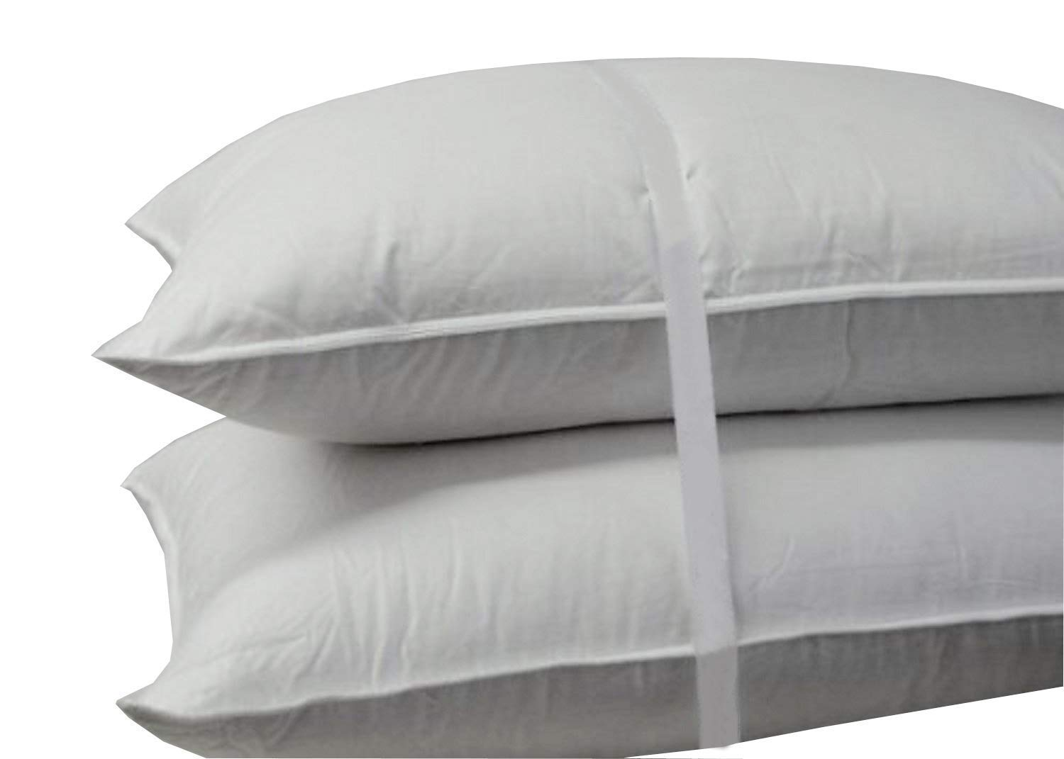 Royal Hotel's Down Pillow - 500 Thread Count Cotton , Standard / Queen Size, Firm Down Pillows, Set of 2