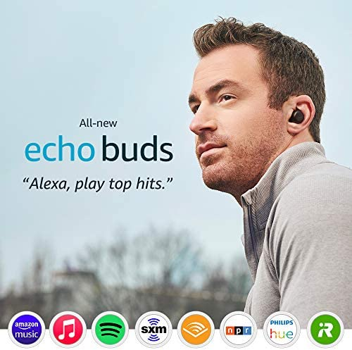 All-new Echo Buds (2d Gen) | Wireless earbuds with energetic noise cancellation and Alexa | Black