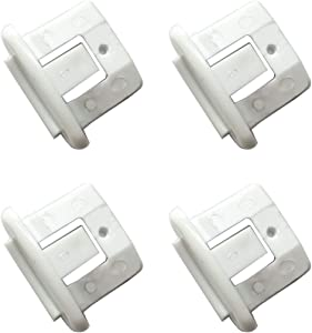 LONYE WD12X10304 Dishwasher Rack Slide End Cap Fit for GE Hotpoint Kenmore Dishwasher WD12X344 AP4484666 PS2370502(Pack of 4)