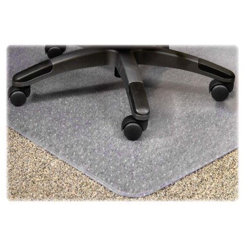 Lorell 25755 Chairmat, Medium Pile, 46''x60'', Lip 25''x12'', Clear by Lorell