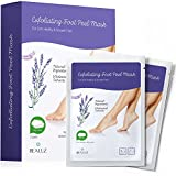2 Pairs Exfoliating Foot Peel Mask Exfoliant for Soft Feet in 1-2 Weeks, Peeling Off Calluses & Dead Skin, For Men & Women (Lavender)