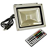 eTopLighting LEFRGB20CP 20-watt AC 95-260-volt RGB Led Color Changing Flood Light with Remote Controller Review