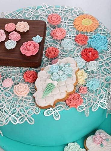 Leaf Flower Pattern Silicone Fondant Baking Paste Mold DIY Cake Decor M7X7