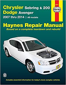 chrysler sebring 200 dodge avenger automotive repair. Black Bedroom Furniture Sets. Home Design Ideas