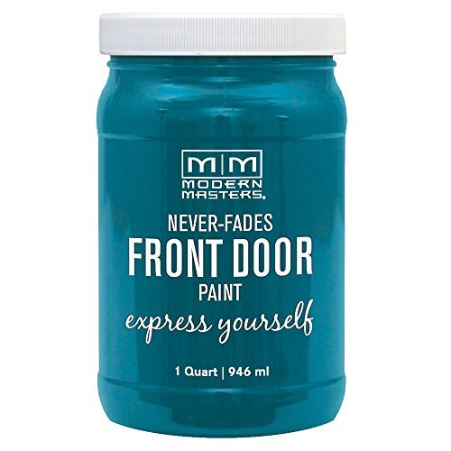 Modern Masters 296681 Qt Teal Satin Front Door Paint Tranquil by Modern Masters