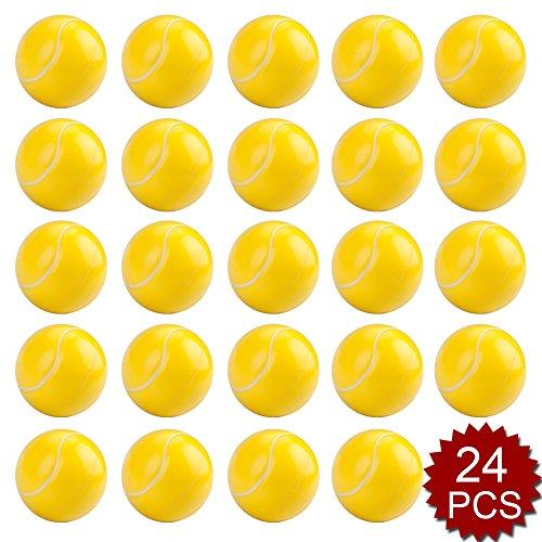 GOGO 24PCS Tennis Squeeze Ball, Stress Relief Hand Exercise Grip Ball