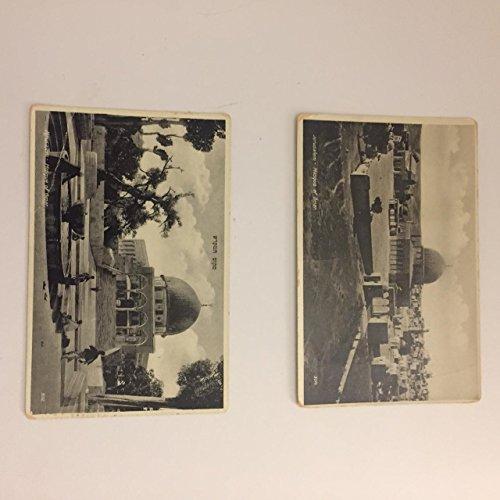 Vintage Postcards of Mosque of Omar, Jerusalem Pre1948 (Set of 2)
