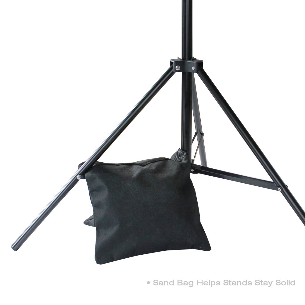 LimoStudio Photo Video Studio 10 ft. Width Adjustable Background Stand Backdrop Support Structure System Kit with Photo Clamp and Sand Bag, Photography Studio, AGG2348V2 by LimoStudio (Image #6)