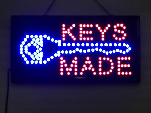 UPSUN Neon Sign Open,LED Business Open Sign Advertisement Board Electric Display Sign, Two Modes Flashing & Steady Light, for Business, Walls, Window, Shop, bar, Hotel(Key Made)