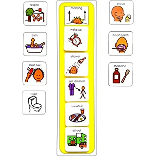 Autism Supplies And Developments Plastic Visual ASD Morning Routine (Picture Communication Symbols)