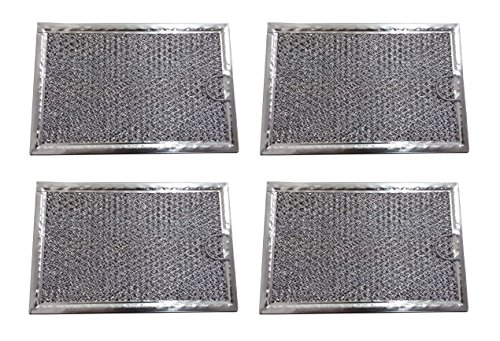 4 Pack Aluminum Mesh Microwave Grease Filter for Frigidaire
